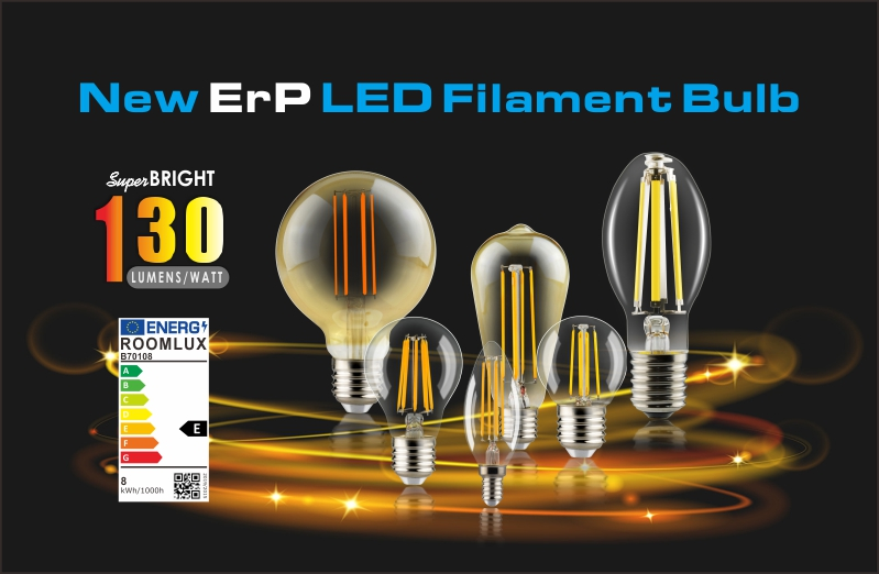 New ERP compliant LED filament bulb ready for inquiry